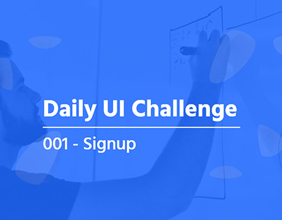 Daily UI 001 - Signup