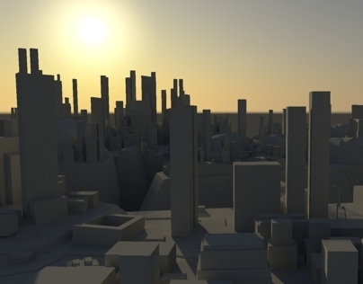 Exploring BG, Low Poly Modelling of a City