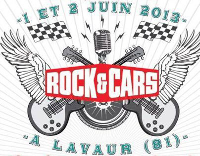 Graphic design for a French Rock&Roll Festival