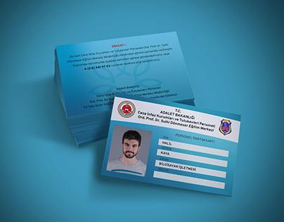 T.C. Ceza İnfaz Kurumları Personel Kimlik Tanıtım Kartı