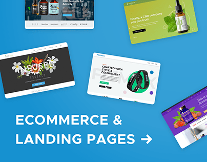 eCommerce & Landing Page Designs