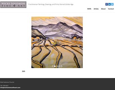 Website - Nicki Solomon Fine Art
