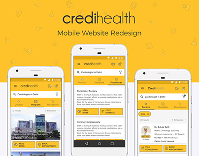 CrediHealth.com: Mobile Website Redesign