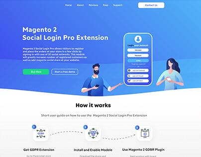 Magento Social Login Pro - landing page