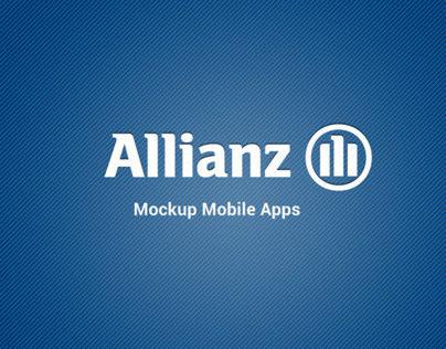 Allianz Indonesia Mobile Apps (Mockup)