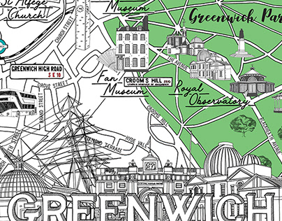 Greenwich London map