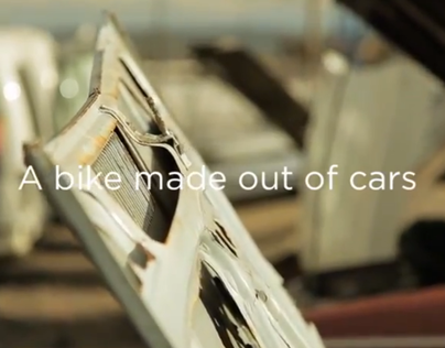 Bicycled. The Bike made out of cars / Product