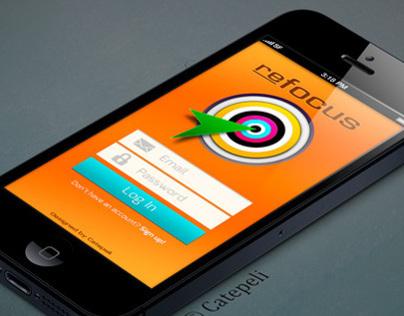 Refocus - iOS application mobile