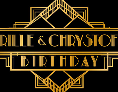 Gatsby Birthday Banner