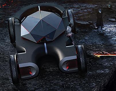 Cryptomotors Luxury Sci-fi Vehicle