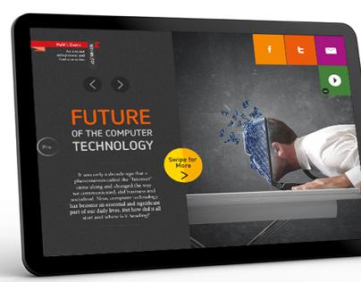 Digital Magazine App Interface