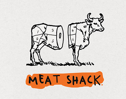 Meat Shack - logotype and branding