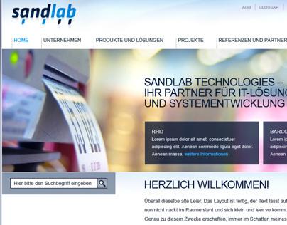 Webseite für sandlab