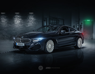Shooting and Photoshop BMW 840D