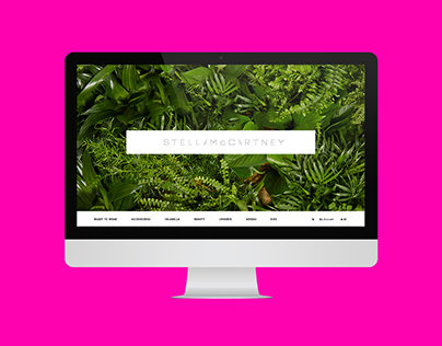 Mock website proposal for Stella McCartney