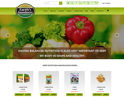 Earth's Goodness - eCommerce Web Design