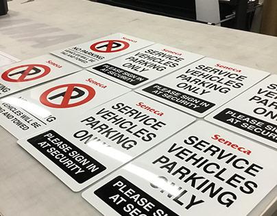 Seneca Parking Sign