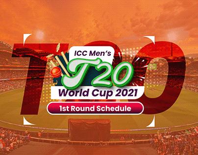 ICC Men's T20 World Cup 2021 (1st round Schedule)
