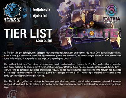 Tier List SoloQ - Suporte 6.6