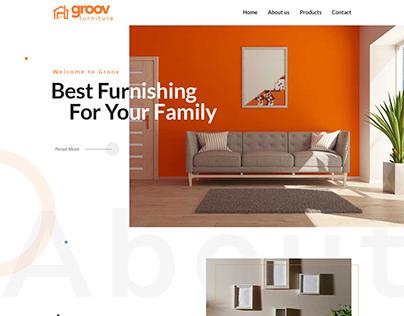 Groov Furniture webpage