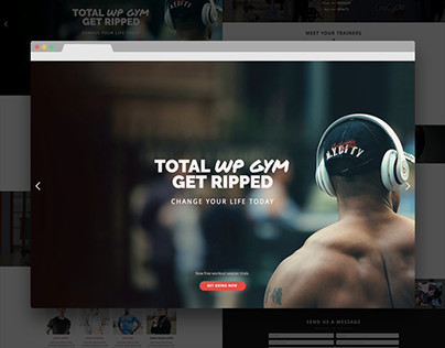 Total Gym Bold & Modern Single Page Web Design