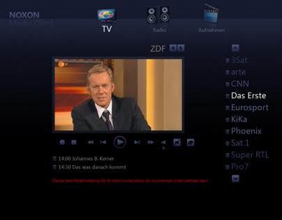 Interface Design für eine TV-Anwendung