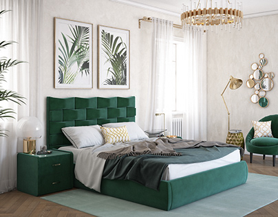 Green bed for catalog