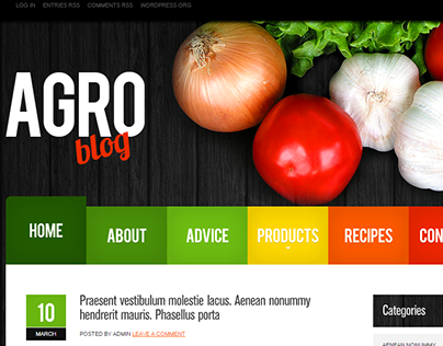 Agro Blog WordPress Theme