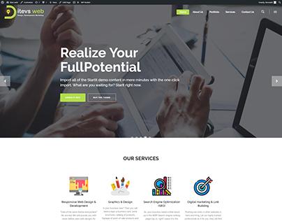 WEBSITE DESIGN FOR ITEVS.COM