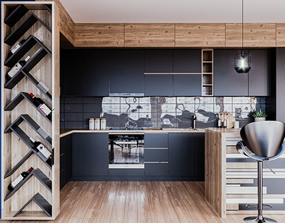 Dark & Elegant apartment design