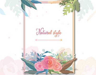 自然花草   Visual design