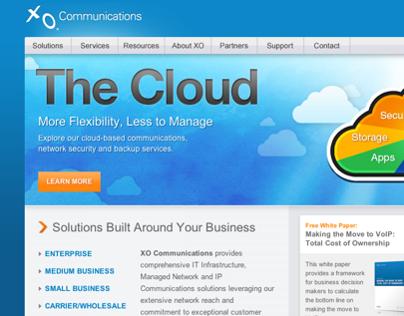 XO Communications Website - Pre Rebrand