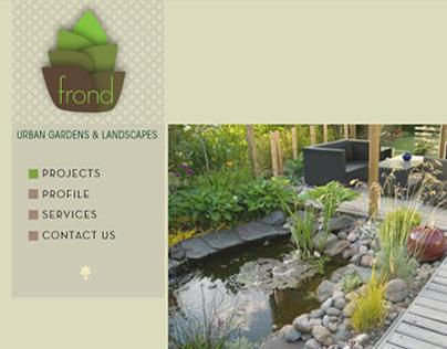 Frond branding: Logo, website, stationary