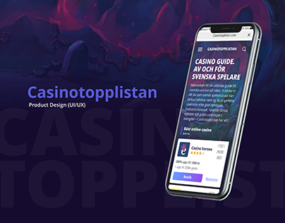 CasinoToppListan UI/UX Design