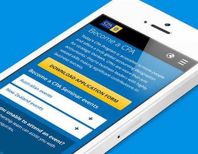 Become a CPA - Responsive Website Design