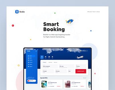 Booking web app design