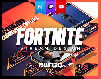 Twitch Overlay Stream Complete Package for Fortnite