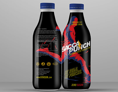 Sacca Punch Diet Isotonic Drink Design Label