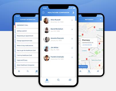 Healthcare Companion App - conceptual redesign