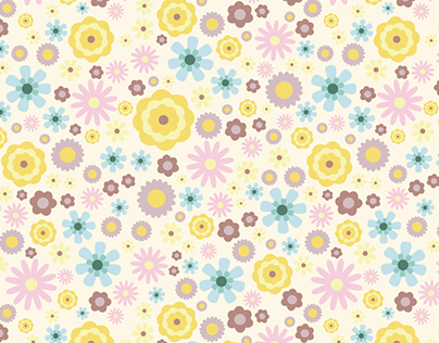 Soft Flowers Repeat Pattern