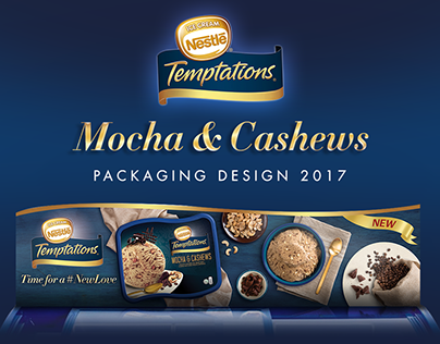 Nestlé Temptations : Mocha & Cashews Label Design
