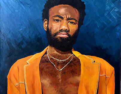 Donald Glover Acrylic on Canvas