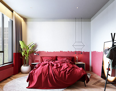 Red bedroom #redbedroom