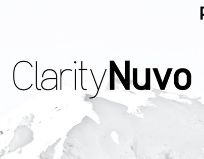Clarity Nuvo - Clean Modern Typeface