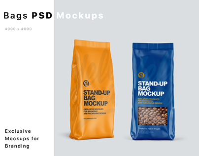 Stand-up Bags Mockups