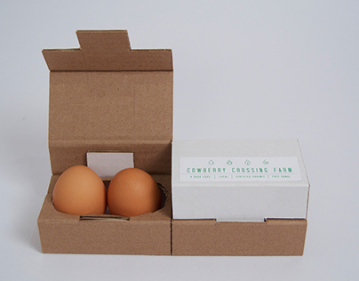Cowberry Crossing Farm Egg Packaging