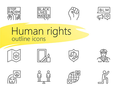 Human rights outline icons