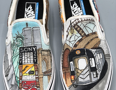 NYC Themed Shoes
