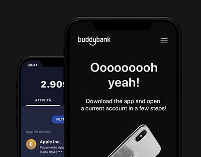 buddybank.com - Ui/Ux. Scrittura, Copywriting.
