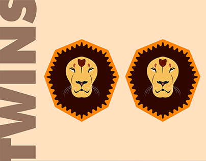 Flat Lion Illustration